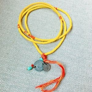 Chan Luu Yellow Tassel Necklace